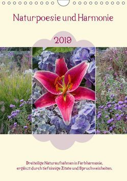 Naturpoesie und Harmonie 2019 (Wandkalender 2019 DIN A4 hoch) von SusaZoom