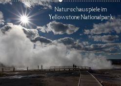 Naturschauspiele im Yellowstone Nationalpark (Wandkalender 2018 DIN A2 quer) von Friederich,  Rudolf
