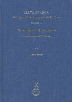 Nebensätze bei Aristophanes von Stelter,  Katrin