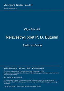 Neizvestnyj poet P. D. Buturlin – analiz tvorčestva von Schmidt,  Olga