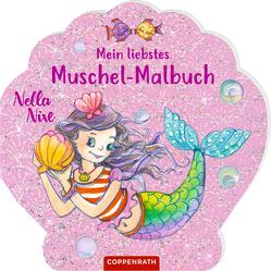 Nella Nixe – Mein liebstes Muschel-Malbuch von Monika Finsterbusch