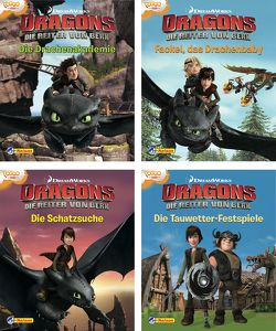 Nelson Mini-Bücher: 4er Dreamworks Dragons 1-4 von DreamWorks Animation UK Limited