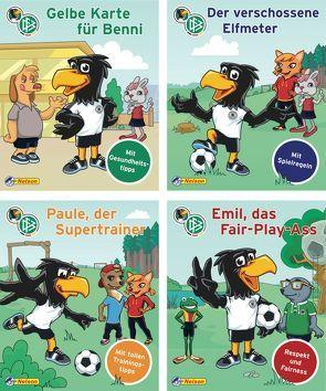 Nelson Mini-Bücher: DFB-Maskottchen Paule 1-4 von DFB - Deutscher Fußball-Bund