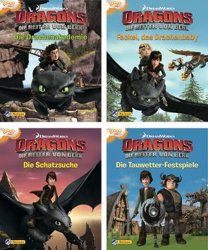Nelson Mini-Bücher: Dreamworks Dragons 1-4 von DreamWorks Animation UK Limited