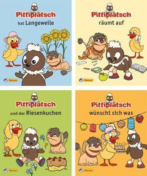 Nelson Mini-Bücher: Pittiplatsch und seine Freunde 1-4