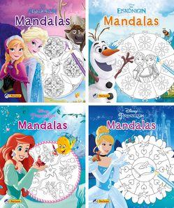 Nelson Mini-Bücher: Disney Mandalas 1-4