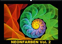 Neonfarben Vol. 2 / CH-Version (Wandkalender 2021 DIN A2 quer) von Art,  gabiw