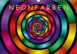 Neonfarben (Wandkalender 2019 DIN A3 quer) von Art,  gabiw