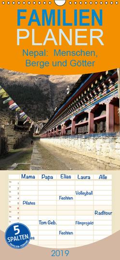 Nepal 2019 Menschen, Berge und Götter zwischen Annapurna und Marsyangdi – Familienplaner hoch (Wandkalender 2019 , 21 cm x 45 cm, hoch) von Rauch,  Sandra