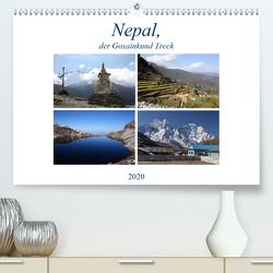 Nepal, der Gosainkund Treck (Premium, hochwertiger DIN A2 Wandkalender 2020, Kunstdruck in Hochglanz) von Albicker,  Gerhard