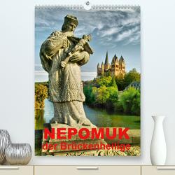 Nepomuk – Der Brückenheilige (Premium, hochwertiger DIN A2 Wandkalender 2021, Kunstdruck in Hochglanz) von Bartruff,  Thomas