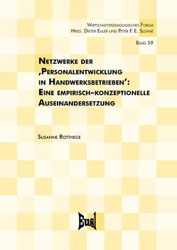 Netzwerke der 'Personalentwicklung in Handwerksbetrieben' von Rotthege,  Susanne