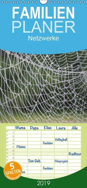 Netzwerke – Familienplaner hoch (Wandkalender 2019 , 21 cm x 45 cm, hoch) von Lindert-Rottke,  Antje