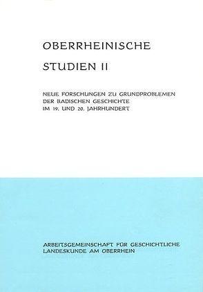Neue Forschungen zu Grundproblemen der badischen Geschichte im 19. und 20. Jahrhundert von Schäfer,  Alfons