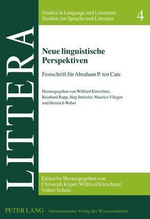Neue linguistische Perspektiven von Kürschner,  Wilfried, Rapp,  Reinhard, Strässler,  Jürg, Vliegen,  Maurice