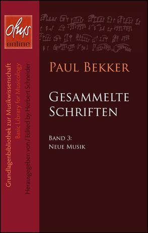 Neue Musik von Bekker,  Paul