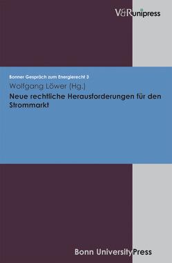 Neue rechtliche Herausforderungen für den Strommarkt von Löwer,  Wolfgang