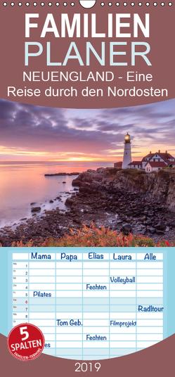 NEUENGLAND – Eine Reise durch den Nordosten der USA – Familienplaner hoch (Wandkalender 2019 , 21 cm x 45 cm, hoch) von Büchler & Martin Büchler,  Christine