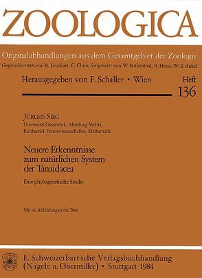Neuere Erkenntnisse zum natürlichen System der Tanaidacea von Sieg,  Jürgen