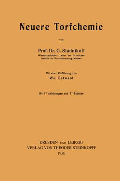 Neuere Torfchemie von Stadnikoff,  G.