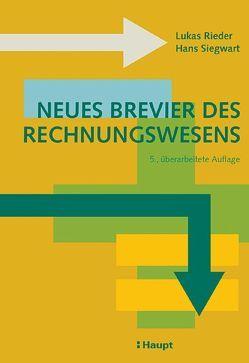 Neues Brevier des Rechnungswesens von Rieder,  Lukas