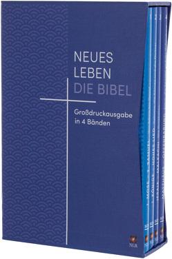 Neues Leben. Die Bibel, Großdruckausgabe 4 Bände im Schuber mit Registerstanzung