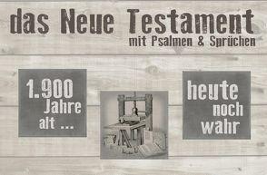 Neues Testament – Querlieger (Motiv Druckerpresse) von Christliche Schriftenverbreitung,  e.V.