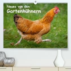 Neues von den Gartenhühnern (Premium, hochwertiger DIN A2 Wandkalender 2021, Kunstdruck in Hochglanz) von Berkenkamp,  Britta