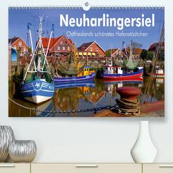 Neuharlingersiel – Ostfrieslands schönstes Hafenstädtchen (Premium, hochwertiger DIN A2 Wandkalender 2021, Kunstdruck in Hochglanz) von LianeM