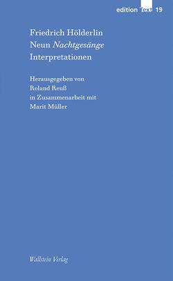 Neun Nachtgesänge von Hölderlin,  Friedrich, Müller,  Marit, Reuss,  Roland