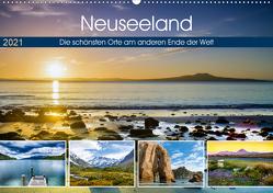 Neuseeland – Die schönsten Orte am anderen Ende der Welt (Wandkalender 2021 DIN A2 quer) von Bosse,  Christian