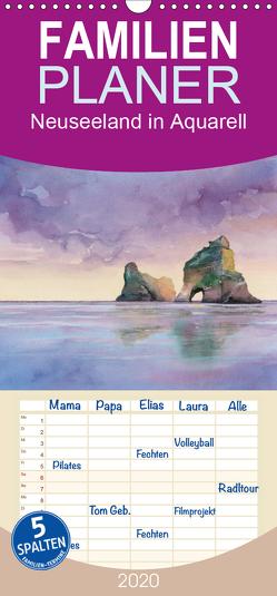 Neuseeland in Aquarell – Familienplaner hoch (Wandkalender 2020 , 21 cm x 45 cm, hoch) von Krause,  Jitka