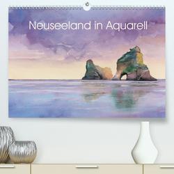 Neuseeland in Aquarell (Premium, hochwertiger DIN A2 Wandkalender 2020, Kunstdruck in Hochglanz) von Krause,  Jitka