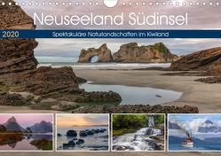 Neuseeland Südinsel – Spektakuläre Naturlandschaften im Kiwiland (Wandkalender 2020 DIN A4 quer) von Kruse,  Joana