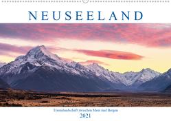 Neuseeland: Traumlandschaft zwischen Meer und Bergen (Wandkalender 2021 DIN A2 quer) von Schaenzer,  Sandra