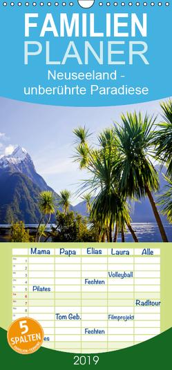Neuseeland: unberührte Paradiese – Familienplaner hoch (Wandkalender 2019 , 21 cm x 45 cm, hoch) von CALVENDO