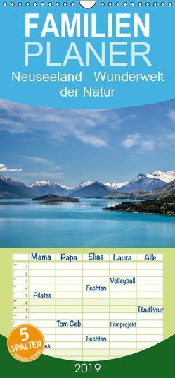 Neuseeland – Wunderwelt der Natur – Familienplaner hoch (Wandkalender 2019 , 21 cm x 45 cm, hoch) von Mueringer,  Christian