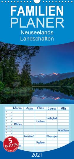 Neuseelands Landschaften – Familienplaner hoch (Wandkalender 2021 , 21 cm x 45 cm, hoch) von Ehrhardt Photography,  René
