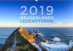 Neuseelands Leuchttürme (Wandkalender 2019 DIN A2 quer) von Franz Schmidt und Sylvia Nafe,  Christian