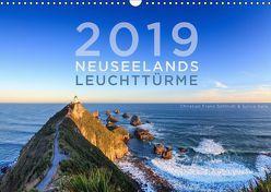 Neuseelands Leuchttürme (Wandkalender 2019 DIN A3 quer) von Franz Schmidt und Sylvia Nafe,  Christian