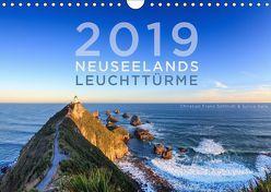 Neuseelands Leuchttürme (Wandkalender 2019 DIN A4 quer) von Franz Schmidt,  Christian