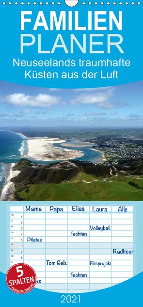 Neuseelands traumhafte Küsten aus der Luft – Familienplaner hoch (Wandkalender 2021 , 21 cm x 45 cm, hoch) von Bosse,  Christian