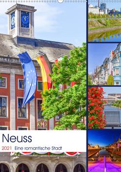 Neuss – Eine romantische Stadt (Wandkalender 2021 DIN A2 hoch) von Hackstein,  Bettina