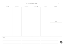 Neutral Weekly Planner A4 von Heye