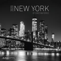 New York 2020 – Broschürenkalender (30 x 60 geöffnet) – Wandkalender – schwarz-weiß – Städtekalender – Wandplaner von ALPHA EDITION, Popkes,  Christian