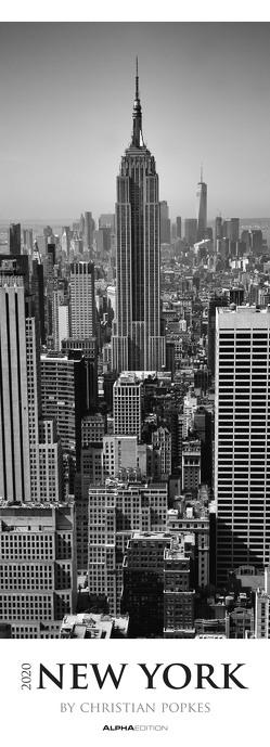 New York 2020 – Streifenkalender XXL (25 x 69) – schwarz-weiß – Kunstkalender – Bildkalender – Wandkalender von ALPHA EDITION, Popkes,  Christian