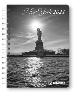 New York 2021 – Diary – Buchkalender – Taschenkalender – 16,5×21,6 von Popkes,  Christian