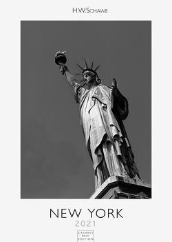 New York 2021 schwarz-weiß L 42x59cm von Schawe,  Heinz-werner