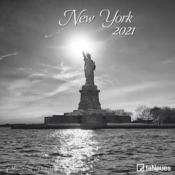 New York 2021 – Wand-Kalender – Broschüren-Kalender – 30×30 – 30×60 geöffnet – Stadt von Popkes,  Christian