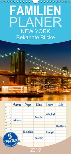 NEW YORK Bekannte Blicke – Familienplaner hoch (Wandkalender 2019 <strong>21 cm x 45 cm</strong> hoch) von Viola,  Melanie